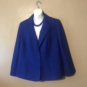 Le Suit blue blazer size 14, 100% polyester